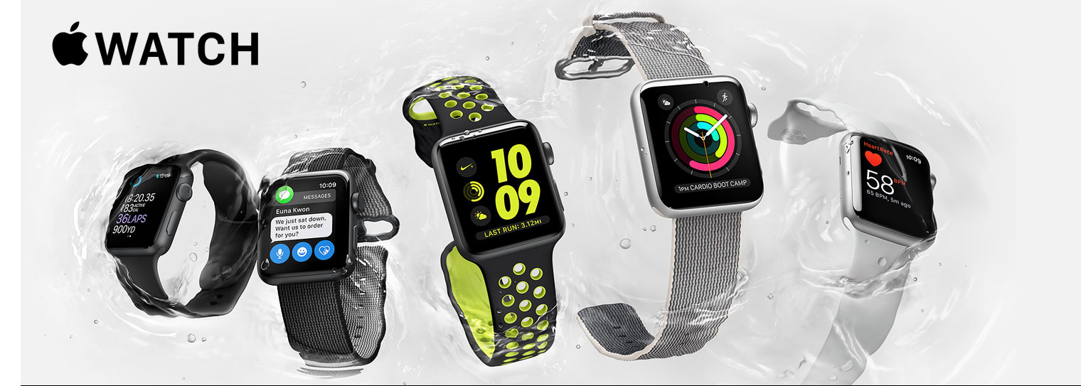 Apple Watch Series 1, Series 2 (myös Edition ja Nike+)