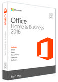 Microsoft Office Mac Home & Business 2016, 1 Licence Medialess Nordic