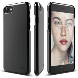 Elago S7 Slim Fit 2 for iPhone 7, Polycarbonate Hard Case, Piano Black
