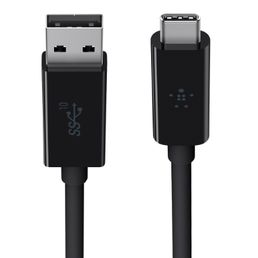 Belkin USB-C (male) to USB 3.1 A (male) 3.1 Cable, 0.9m Black