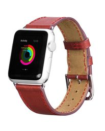 Hococase Apple Watch Mix and Match Leather strap, Red