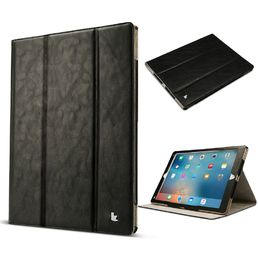 "Jisoncase iPad Pro 12.9"", Magnetic Tri-fold Folio Stand PU Leather Smart Cover Case w/ Pencil holder, black"