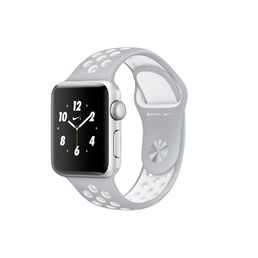 Apple Watch Nike+ Silver Aluminium Case with Flat Silver/White Nike Sport Band