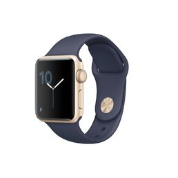 Apple Watch Series 2 38mm Gold Aluminium Case with Midnight Blue Sport Band