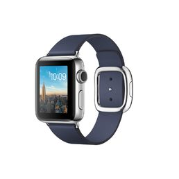 Apple Watch Series 2 Stainless Steel Case with Midnight Blue Modern Buckle - Small