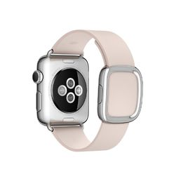 Apple Watch 38mm Stainless Steel Case with Soft Pink Modern Buckle - Large