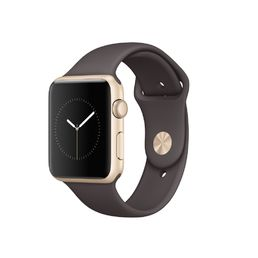 Apple Watch Series 1 Gold Aluminium Case with Cocoa Sport Band