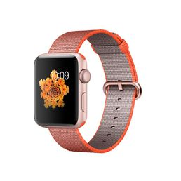 Apple Watch Series 2 Rose Gold Aluminium Case with Orange/Anhtracitge Woven Nylon Band