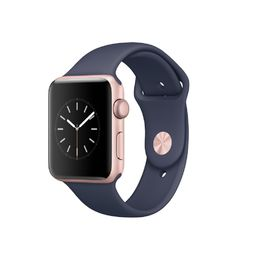 Apple Watch Series 2 Rose Gold Aluminium Case with Midnight Blue Sport Band