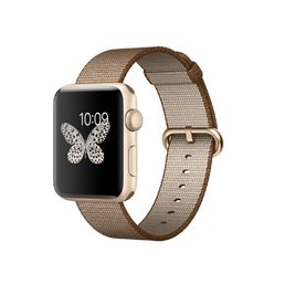 Apple Watch Series 2 Gold Aluminium Case with Toasted Coffee/Caramel Woven Nylon Band