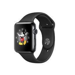 Apple Watch Series 2 Space Black Stainless Steel Case with Space Black Sport Band