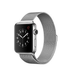 Apple Watch Series 2 Stainless Steel Case with Silver MIlanese Loop