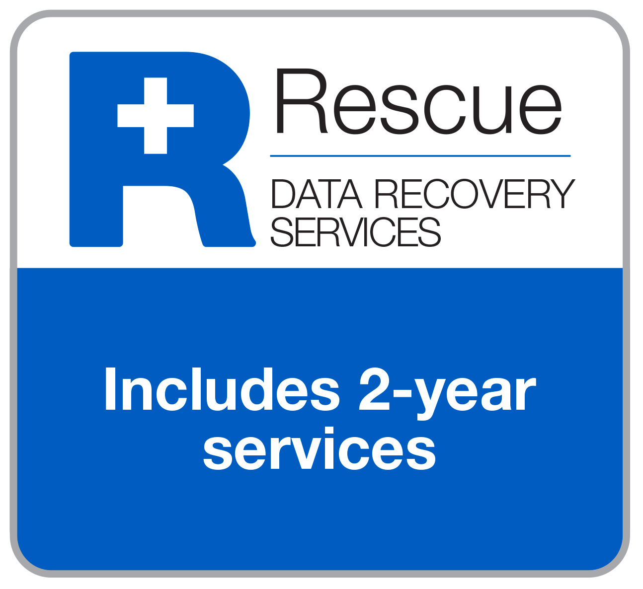 Rescue Data Recovery Services. Includes 2-year services.
