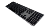 Matias Backlit Wireless Aluminum Keyboard - Space Gray - Nordic