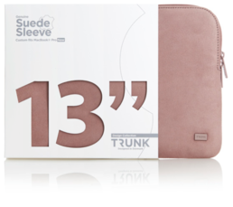 "Trunk Suede Leather Sleeve for MacBook Pro 13"" (2016-) - Rose"