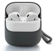 Lead Trend Airpods Case with Wrist & Neck Strap, Gray