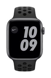 Apple Watch Nike SE GPS, 44mm Space Gray Aluminium Case with Anthracite/Black Nike Sport Band - Regular