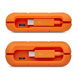 "LaCie Rugged IP54 2.5"" HDD Thunderbolt3 & /USB3.1 Type C w/integrated cable"