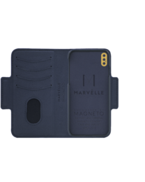 Marvêlle N°307 SIGNATURE OXFORD BLUE | SLIM MAGNETIC FLIP CASE & WALLET | IPHONE XS MAX EOL