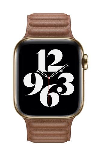 Apple Watch 40mm Saddle Brown Leather Link - Large