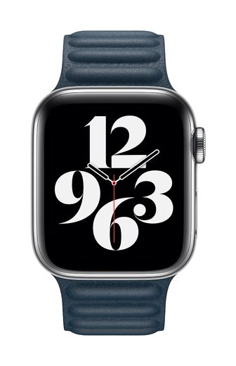 Apple Watch 40mm Baltic Blue Leather Link - Large