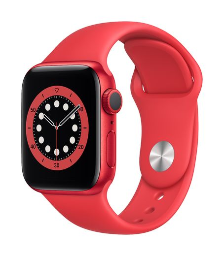 Apple Watch Series 6 GPS, 40mm PRODUCT(RED) Aluminium Case with PRODUCT(RED) Sport Band - Regular