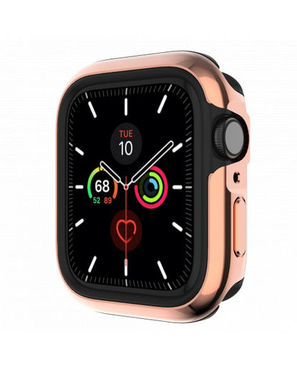 SwitchEasy Odyssey Protective Aluminum Bumper for Apple Watch, Flash Rose Gold