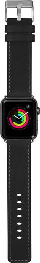 LAUT Safari Leather Strap for Apple Watch 42/44mm - Onyx