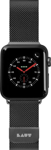 LAUT Steel Loop for Apple Watch 42/44mm - Black