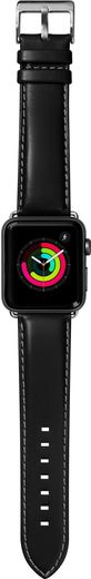 LAUT Oxford Leather Strap for Apple Watch 38/40mm - Noir