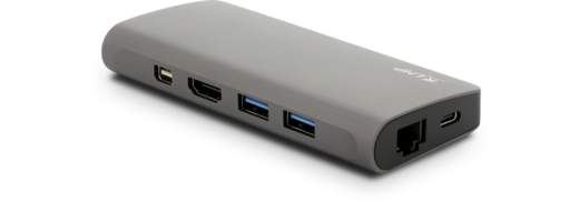 LMP USB-C Travel Dock 2x USB3.0, 1x USB-C, HDMI/mini DP 4K@30Hz, VGA, SD/Micro SD, Gbit Ethernet, Space Gray