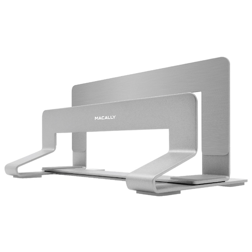 "Macally Vertical laptop stand for Laptop 13""-17"" - Silver"