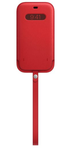 Apple iPhone 12 Pro Max Leather Sleeve with MagSafe - (PRODUCT)RED