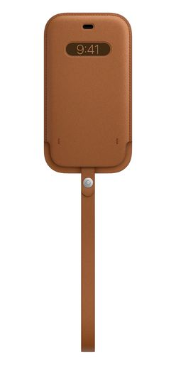 Apple iPhone 12 | 12 Pro Leather Sleeve with MagSafe - Saddle Brown