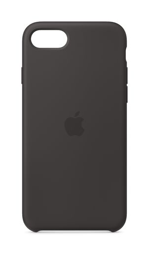 iPhone SE Silicone Case - Black (musta)