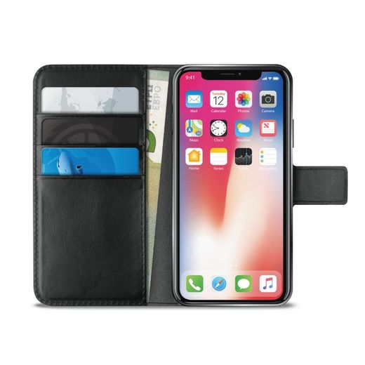 Puro Milano EcoLeather Wallet, Black for iPhone Xs Max *poistuva*